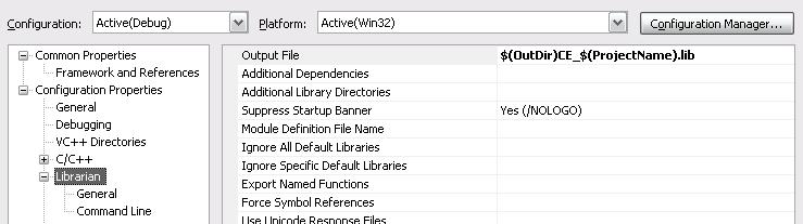 Librarian OutputFile