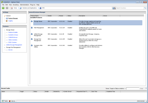 VSI 4.0 - Feature Manager