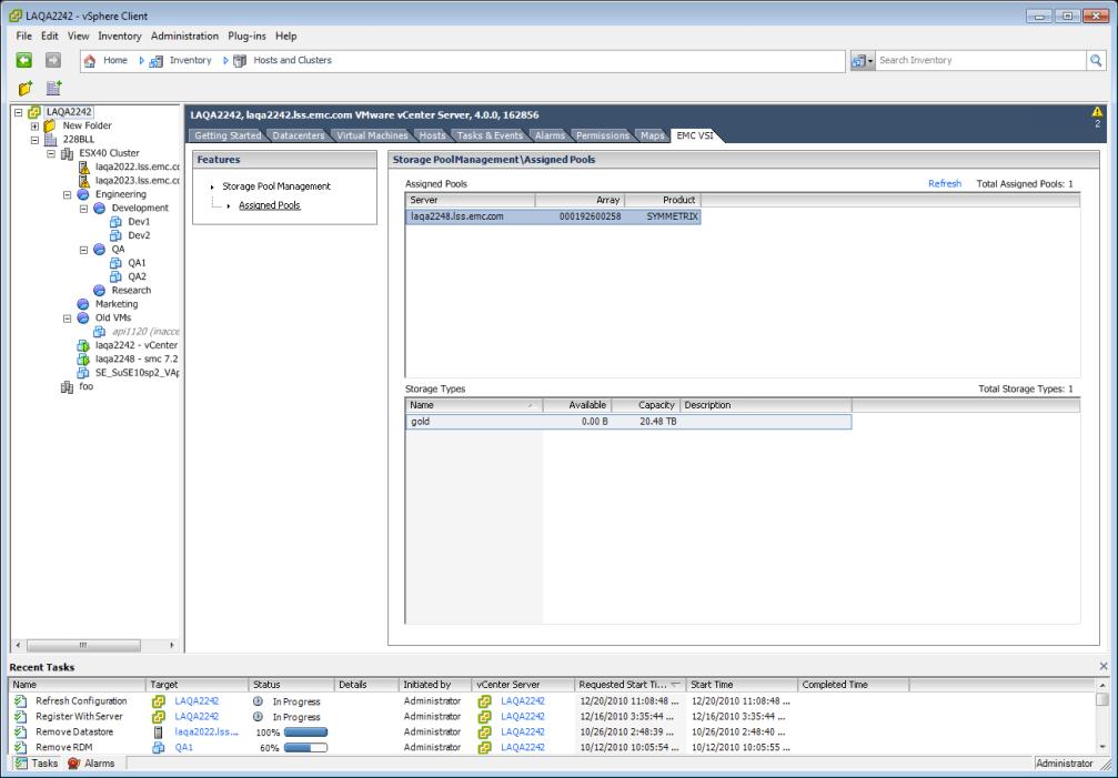 VSI 4.0 - Storage Pool Management