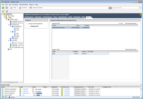VSI 4.0 - Storage Pool Management