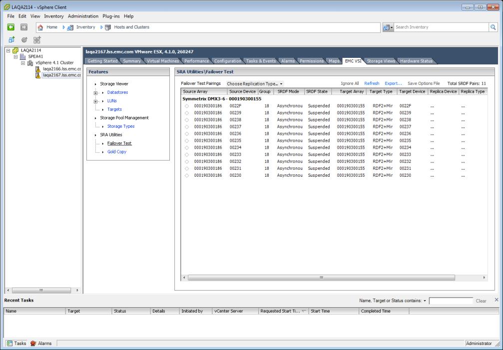 VSI 4.0 - Symmetrix SRA Utilities