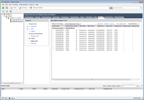 VSI 4.0 - Symmetrix SRA Utilities