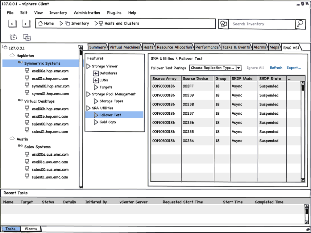 VSI 4.0 - Symmetrix SRA Utilities - Mockup